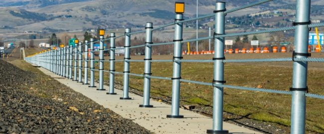 safe direction wire rope safety barrier