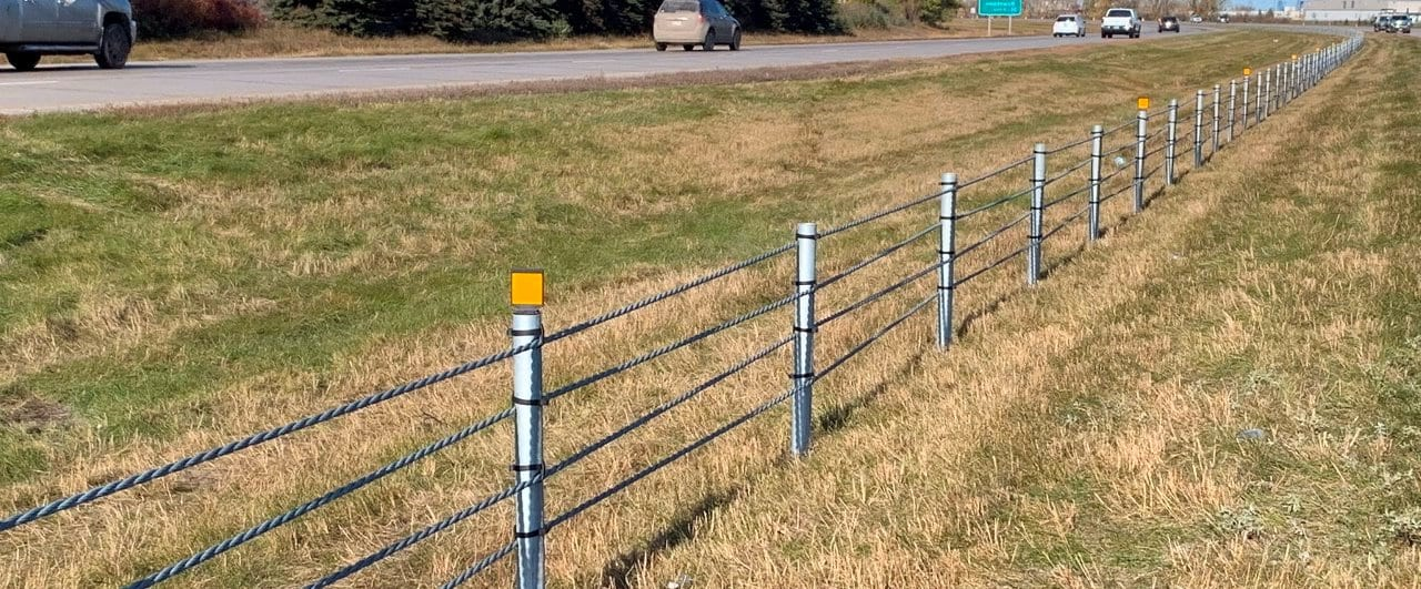 hot dip galvanised wire rope safety barrier