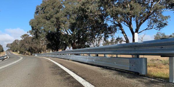 Biker-Shield guardrail installation