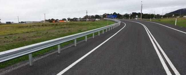 Richmond Road Tasmania guardrail project