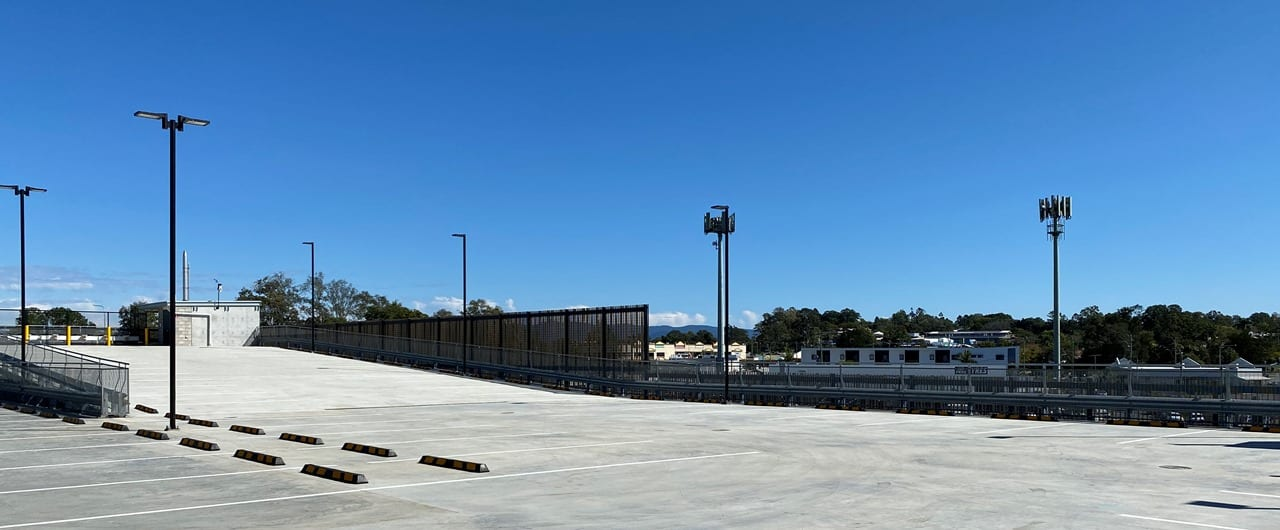 car park asfety barrier installation at university of sunshine coast