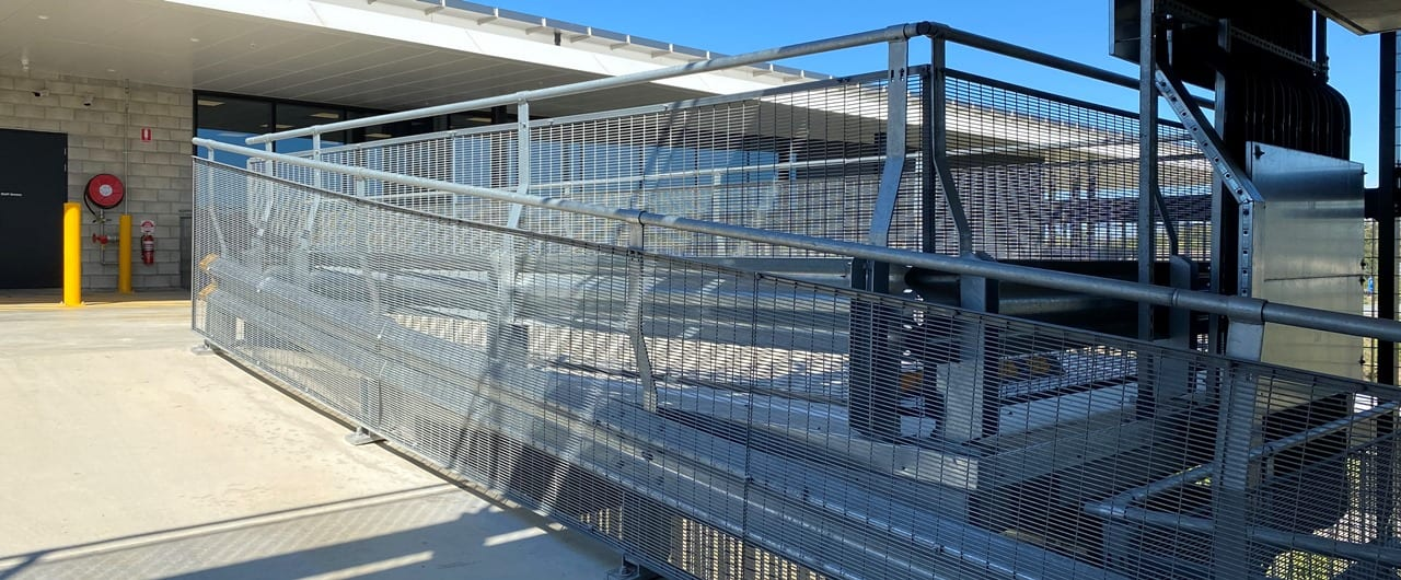 usc car park perimeter edge and fall protection with rhino stop type 6 safety barrier