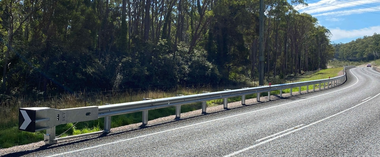 railton mainroad safety barrier project