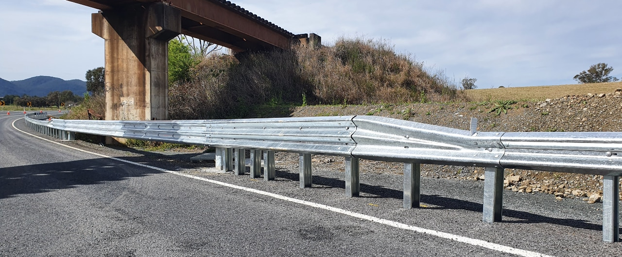 crocguard crash barrier in bridge